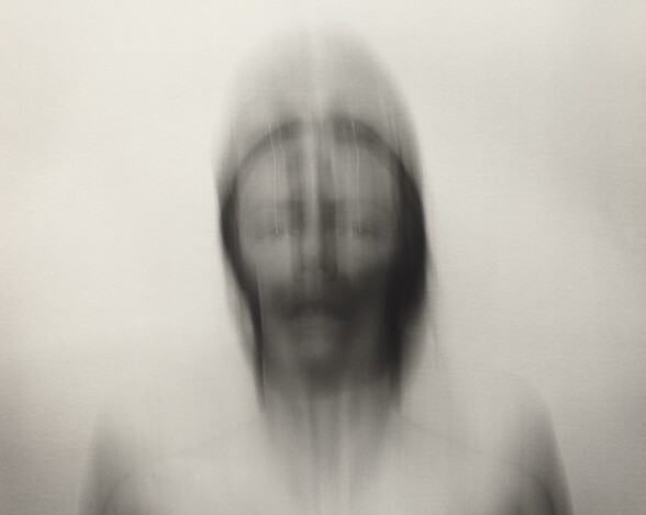 Self-Portrait: Vertical motion down, medium