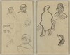 Five Studies of Soldiers and a Woman's Face; Two Figures [recto]