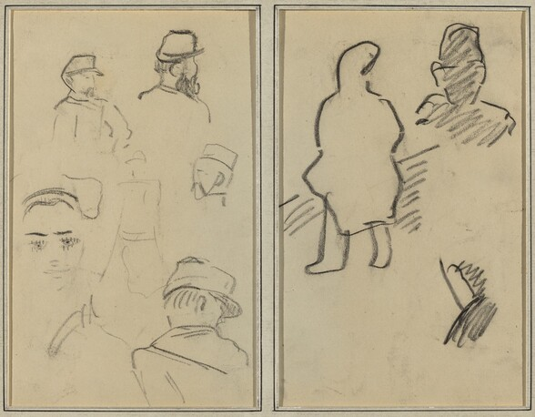 Five Studies of Soldiers and a Woman