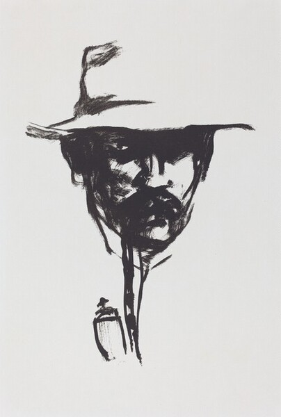 Man with a Pipe (Self-Portrait)