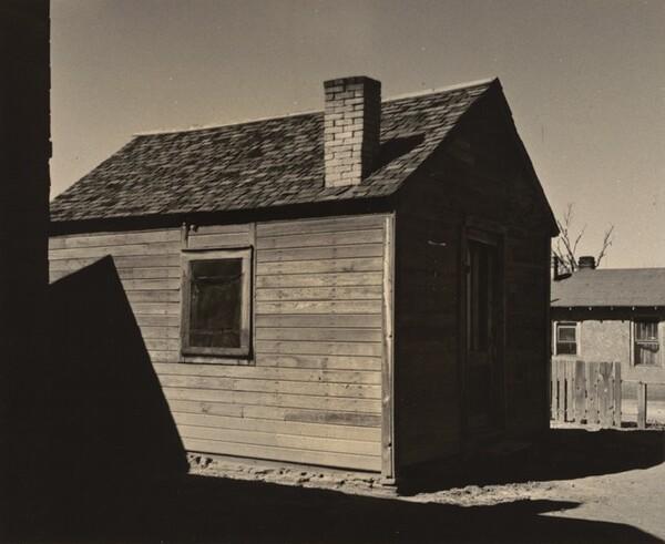 Farm Building and Shadows, Winslow, Arizona
