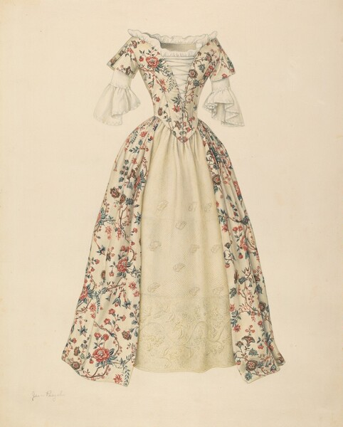 Dress with Quilted Petticoat