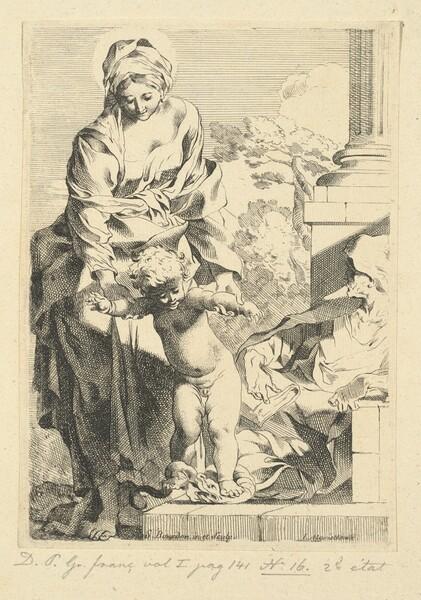 Virgin and Child Trampling Sin