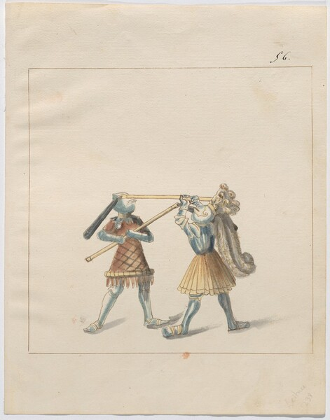 Freydal, The Book of Jousts and Tournament of Emperor Maximilian I: Combats on Foot (Jousts)(Volume III): Plate 125