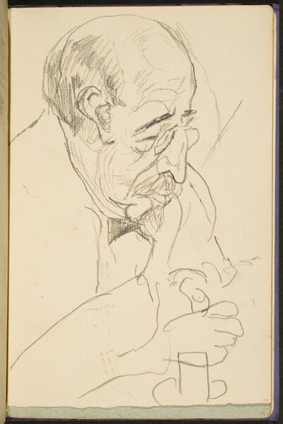 alter Mann mit Kneifer (Old Man with Spectacles) [p. 17]