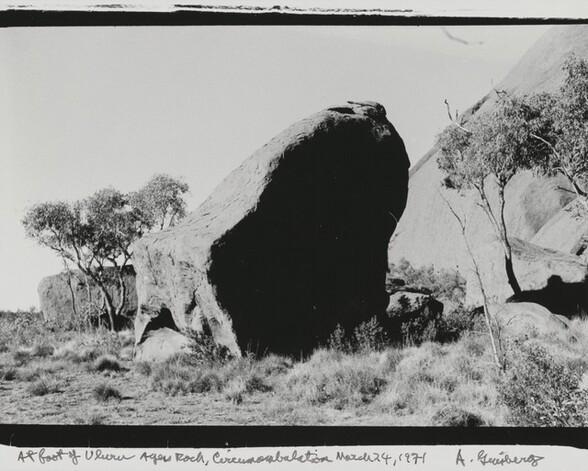 At foot of Uluru Ayers Rock, Circumambulation March 24, 1971