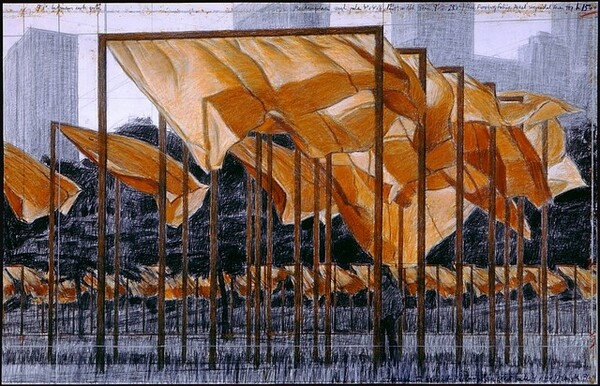 The Gates, Project for Central Park, New York City [bottom panel]