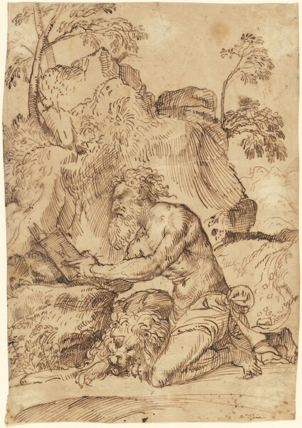 Saint Jerome Reading in the Wilderness