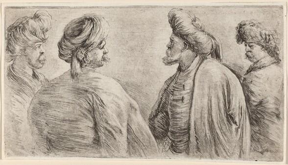 Four Turks Wearing Turbans