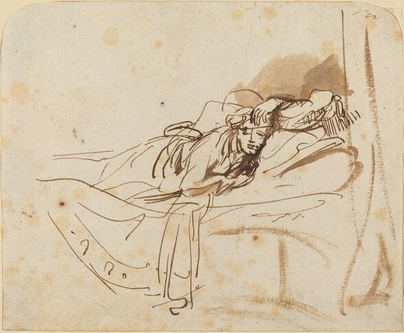 Saskia(?) Lying in Bed