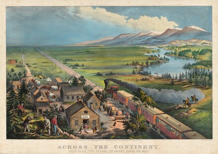 Frances Flora Bond Palmer, James Merritt Ives, Currier and Ives, Across the Continent: