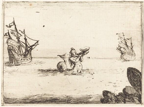 Siren between Two Ships