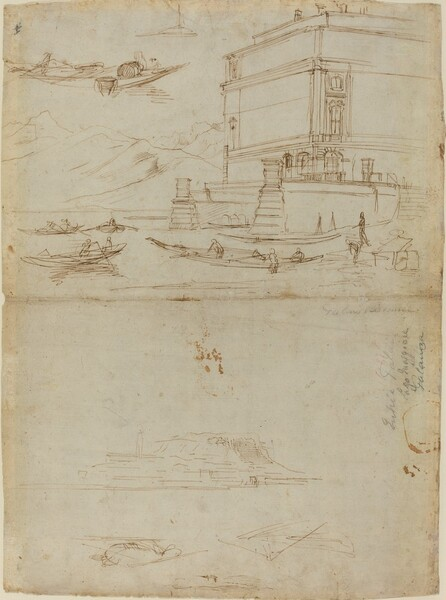 Studies of Lago Maggiore and and the Entrance to a Palazzo