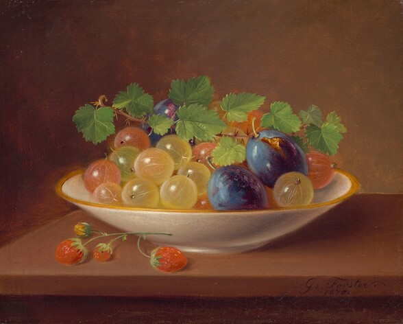 Still Life with Fruit / Gooseberries in a Bowl