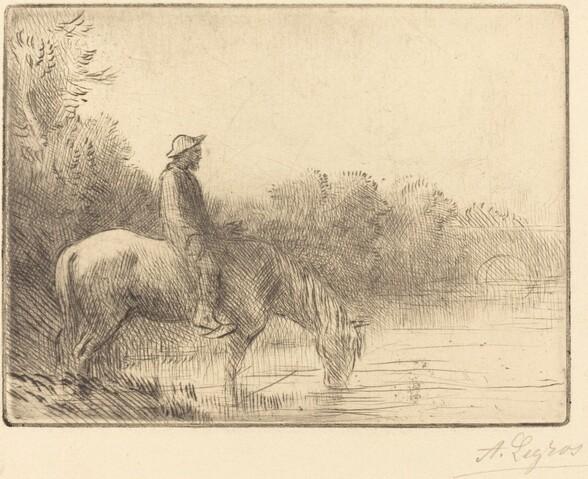 Fording a River (Le gue)