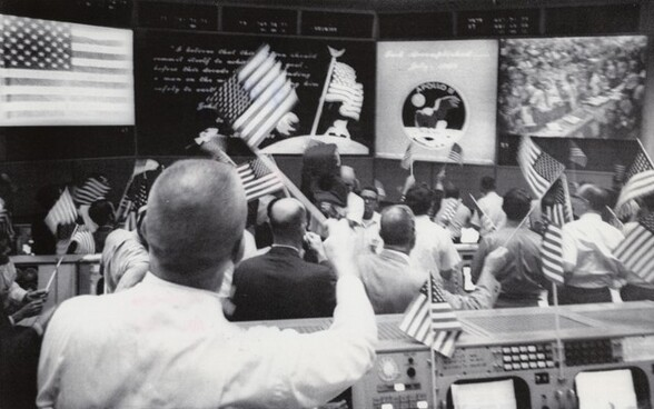 This Was the Celebration Scene in Mission Control...
