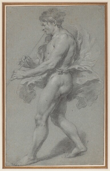 Study of a Man Playing a Pipe