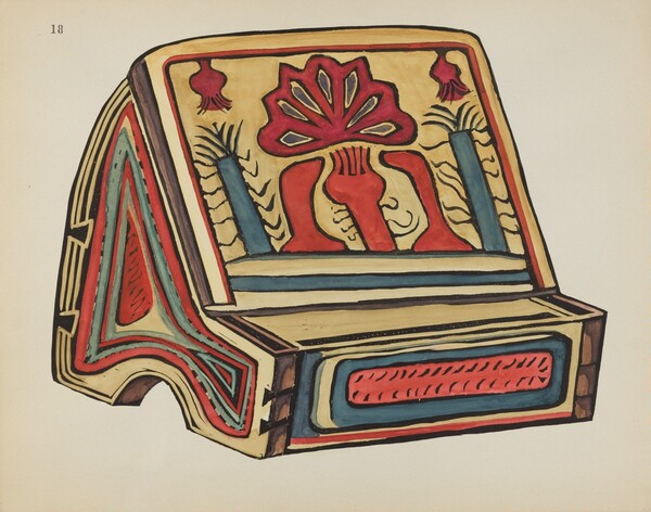 Plate 18: Reading Stand, Llano: From Portfolio Spanish Colonial Designs of New Mexico