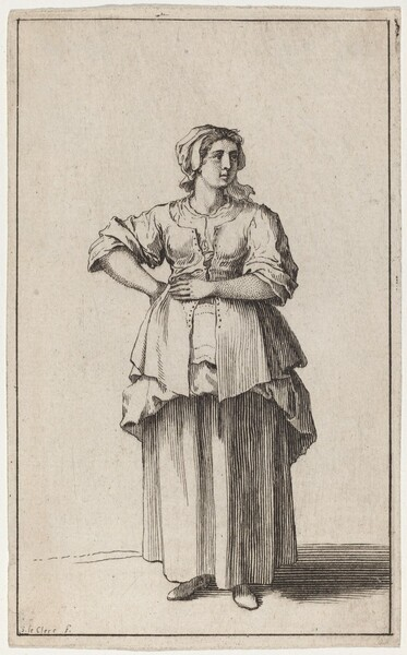 Standing Servant Woman