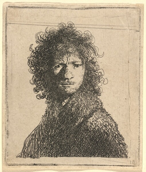 Self-Portrait, Frowning