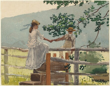 Winslow Homer, On the Stile, 1878