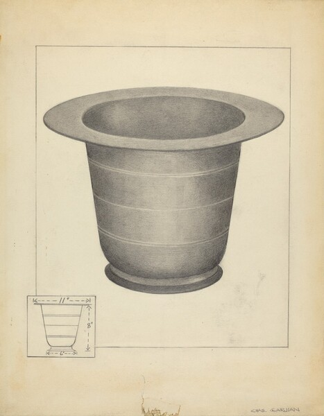 Pewter Commode Form