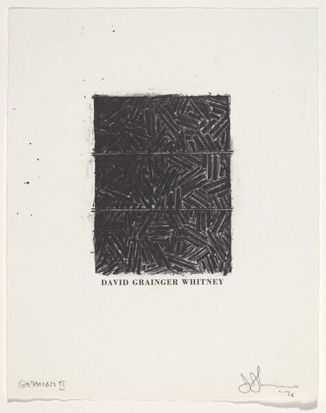 Bookplate for David Grainger Whitney