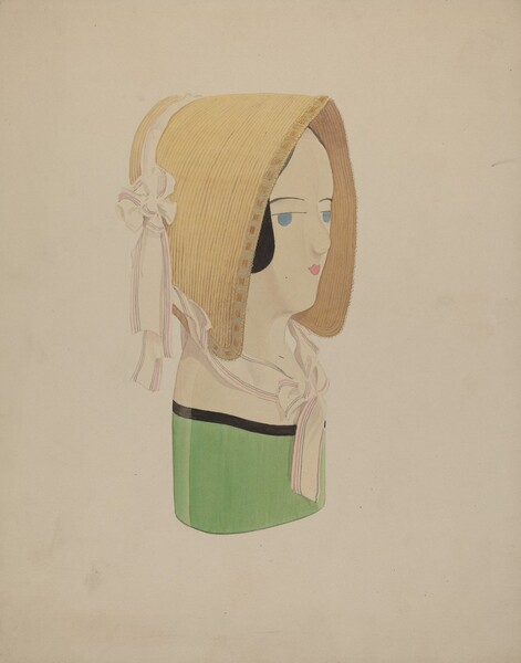 Hat Mannequin and Bonnet
