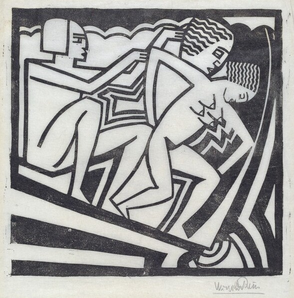 Untitled (Two Figures in an Incline)