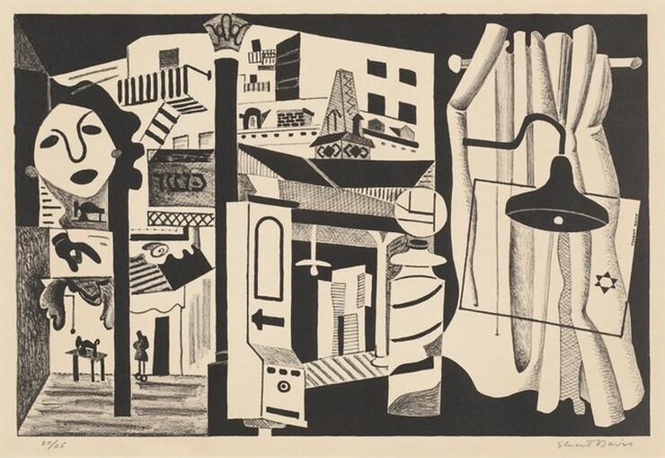 Stuart Davis, Sixth Avenue El, 1931