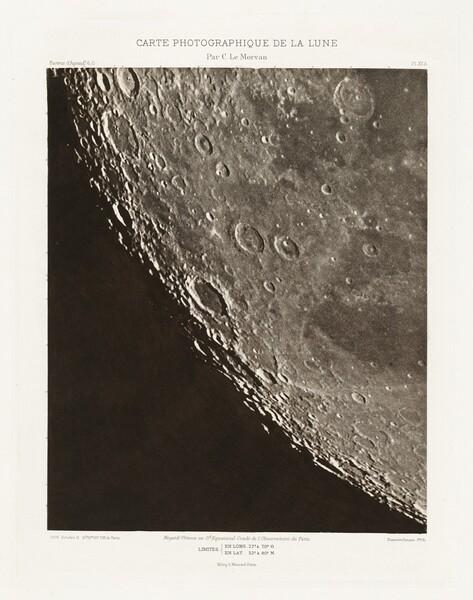 Carte photographique de la lune, planche XII.A (Photographic Chart of the Moon, plate XII.A)