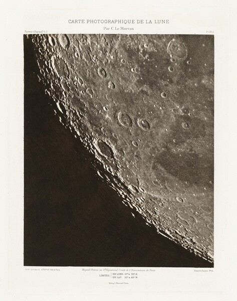 Carte photographique de la lune, planche XII.A (Photographic Chart of the Moon, plate XII.A)
