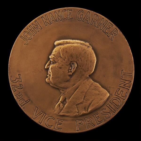 Franklin Delano Roosevelt Second Inaugural Medal [reverse]