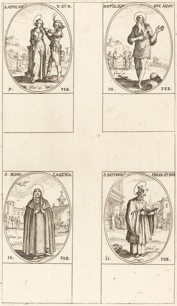 St. Apollonia; St. Guillaume; St. Scholastica; St. Saturnin