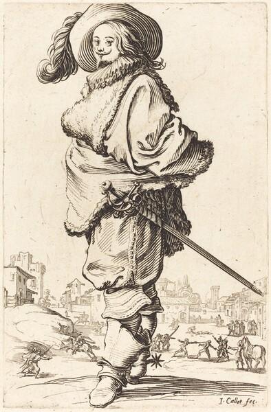 Noble Man with Fur Plastron