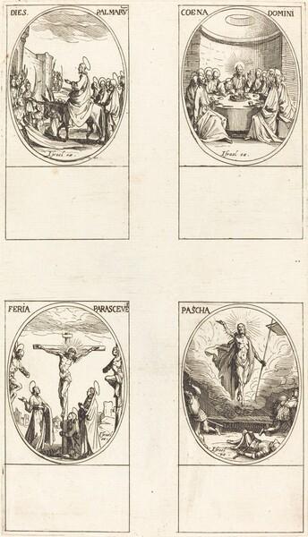 Entry into Jerusalem; Last Supper; Crucifixion; Resurrection