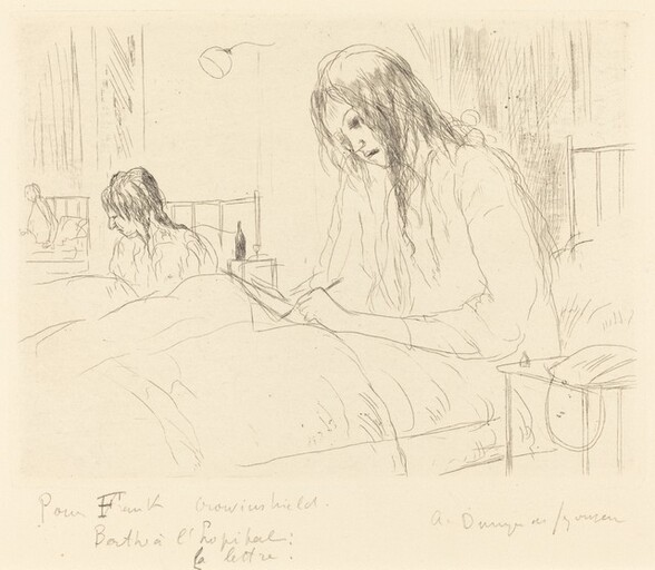 Berthe at the Hospital, The Letter (Berthe a l