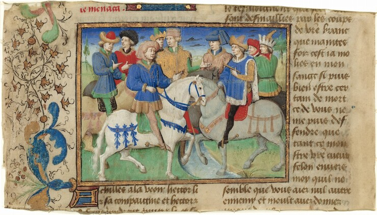 Master of Girart de Roussillon, Meeting of Achilles and Hector, c. 1450 - 1460