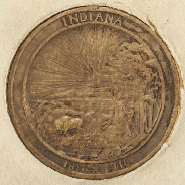 The Indiana Medal (The Admission of Indiana to the Union) [reverse]