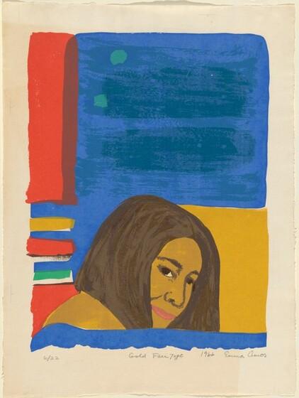 Emma Amos, Gold Face Type, 19661966
