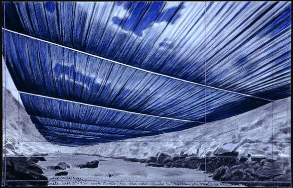 Over the River, Project for the Arkansas River, Colorado [bottom panel]