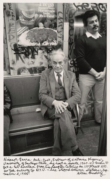 Nicanor Parra Anti-Poet, Professor of Newtonian Physics, University of Santiago Chile, my host a month 1960. We couldn