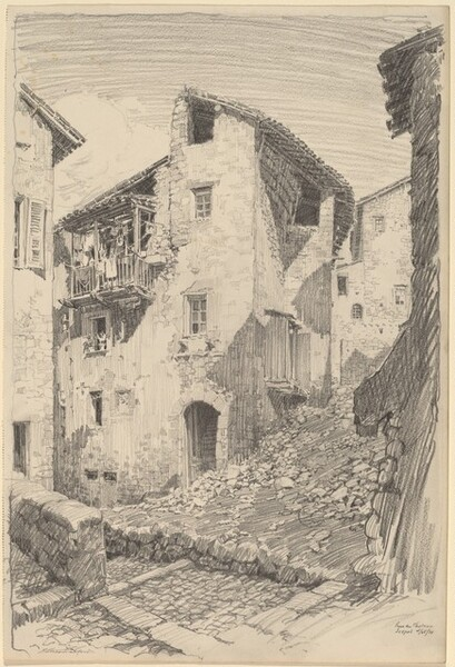 Street in Sospel, France