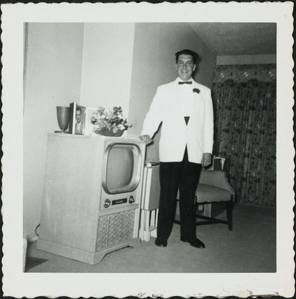 Untitled (Man in front of television)