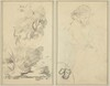 Trees; Sketch of Breton Boy [verso]