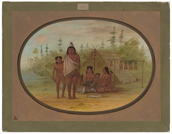 A Flathead Chief with His Family