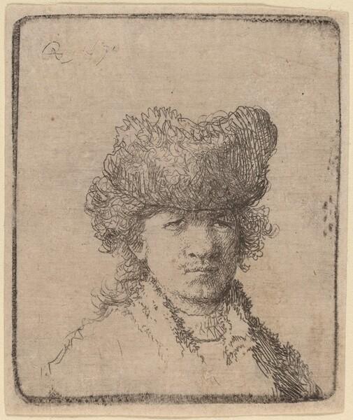 Self-Portrait in a Fur Cap