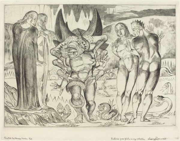 The Circle of the Thieves; Agnolo Brunelleschi Attacked by a Six-Footed Serpent