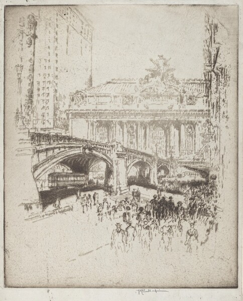 The Approach to the Grand Central, New York