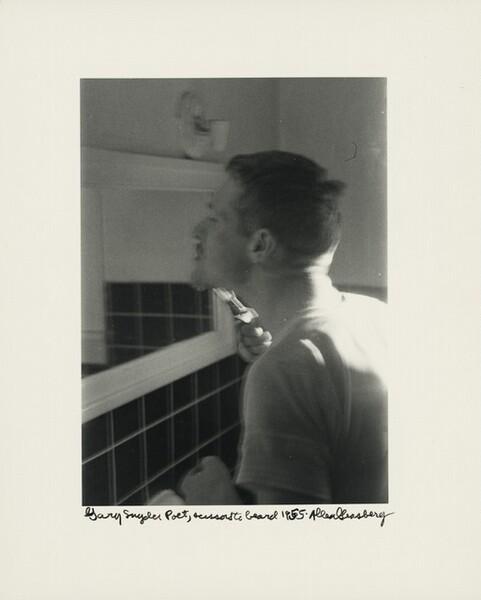 Gary Snyder Poet, scissors to beard 1965.